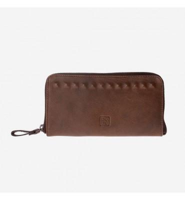 Женский кожаный кошелек DUDUBAGS Timeless (Италия) / размер 20x10,5x2 см / цвет коричневый