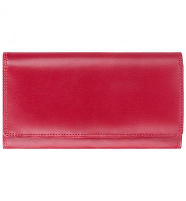 Женский кожаный кошелек Visconti (Англия) / размер 10х18х2 см / цвет красный