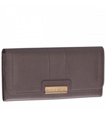 Женский кожаный кошелек Smith&Canova (Англия) / размер 11х20х2 см / цвет taupe