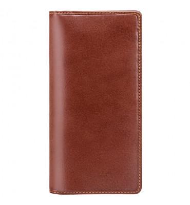 Мужской кожаный купюрник Visconti (Англия) / размер 9,5х18,5х1 см / цвет коричневый