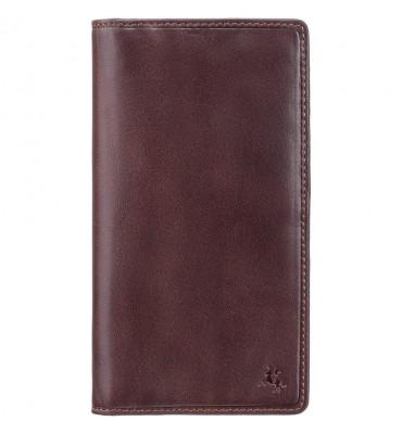 Мужской кожаный купюрник Visconti (Англия) / размер 10х18.5х1 см / цвет коричневый