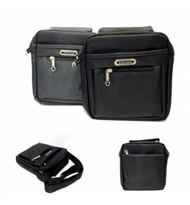 Мужская, текстильная сумка, серого цвета от GORANGD / 18,5*19*6,5 / 8263