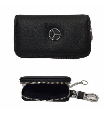 Авто-ключница / чехол для ключей от автомобиля из натуральной кожи Mercedes / 602 / 9*5,5*2
