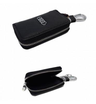 Авто-ключница / чехол для ключей от автомобиля из натуральной кожи Audi / 602 / 9*5,5*2