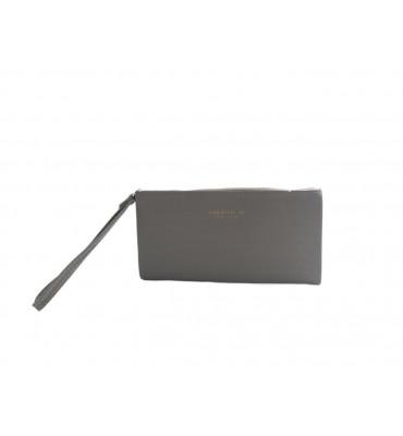 Женский кошелек - клатч от ТМ YAMEI из качественно эко-кожи в сером цвете / A610-9