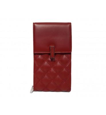 Клатч женский эко-кожа Saralyn X-667-2 10.5х19х5 красный