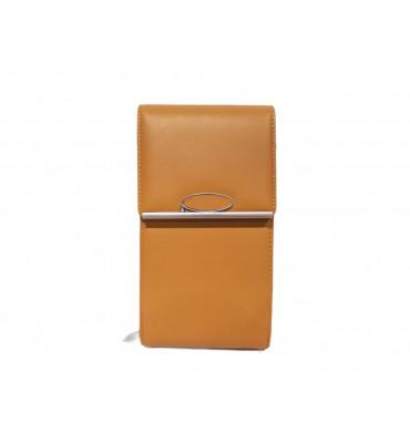 Клатч женский эко-кожа Saralyn V-9573-10 10.5х19х5 желтый