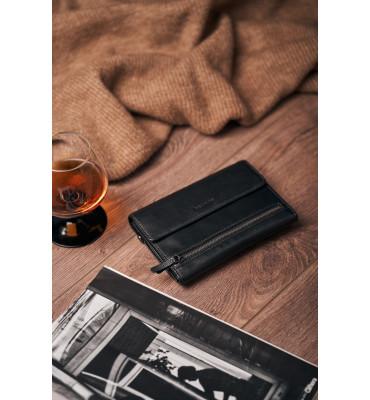Клатч мужской натуральная кожа Hassion H-092B 11ю5х16.5х2 черный