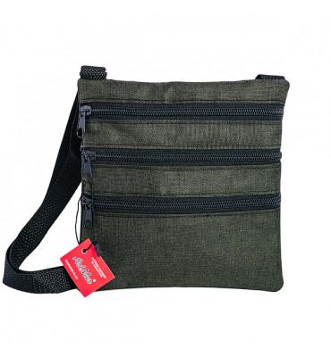 Чоловіча через шию  ArtMar, текстиль / 18,5*17,5*1 / AM-V004-3 / мужская сумка через шею, текстиль
