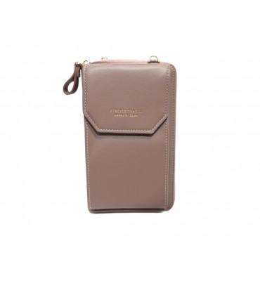 Клатч женский эко-кожа Saralyn 7121-8 11х18х4 сливовый