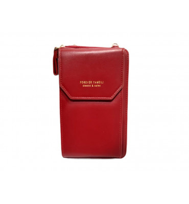 Клатч женский эко-кожа Saralyn 7121-2 11х18х4 красный
