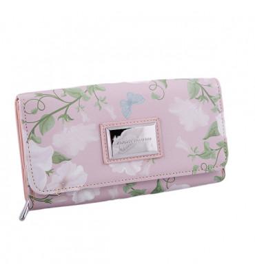 Гаманець жіночий від DIANA&CO, із додатковою візитівкою, рожевий, еко-шкіра / 18*10*4