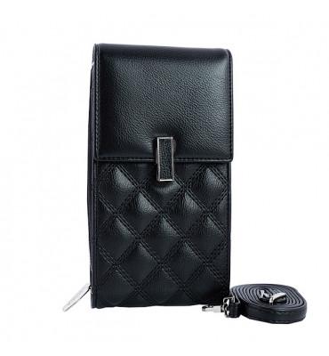 Клатч женский эко-кожа Saralyn  X-667-1 10.5х19х5 черный