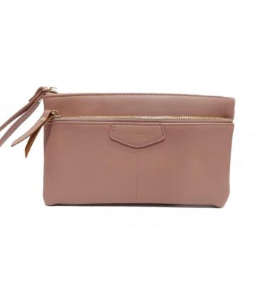 Женский кошелек - клатч от ТМ YAMEI из качественной эко-кожи в розовом цвете / T4625-004-4 / 19*11*1