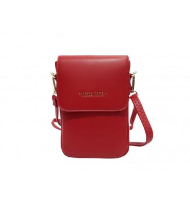Клатч женский эко-кожа  YA MEI YM313-2 12х17х5.5 красный