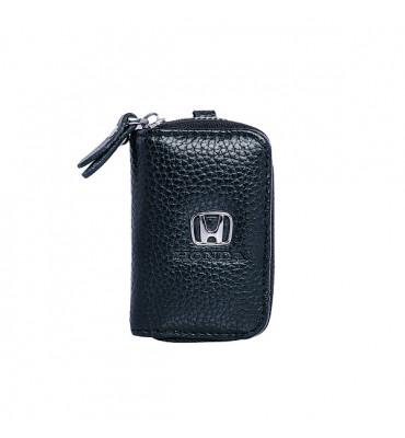 Авто-ключница / чехол для ключей от автомобиля из натуральной кожи Honda / 602 / 9*5,5*2