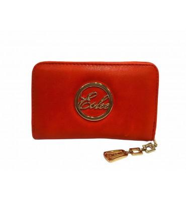 Кошелек женский эко-кожа Eslee 6035 10х15х3 красный