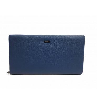Кошелек женский натуральная кожа CARDINAL S612-7 12х21.5х3.5 синий