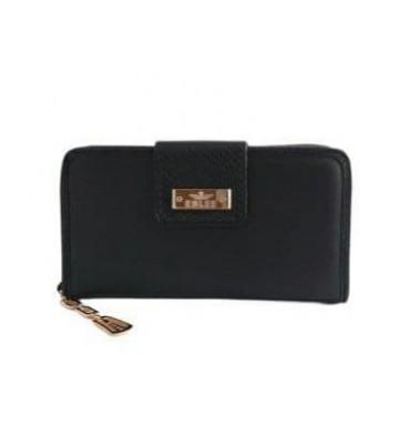 Женский кошелек от ТМ Eslee F6558-1 из качественной эко-кожи, в черном цвете / 19*3*10