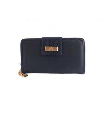 Женский кошелек от ТМ Eslee F6558-7 из качественной эко-кожи,  синем цвете / 19*3*10
