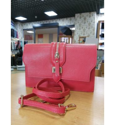 Женская кожаная сумка (Италия) / цвет красный