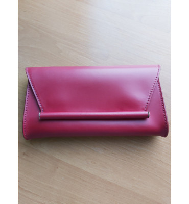 Женская кожаная сумка (Италия) / цвет бордо