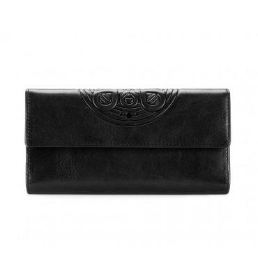 Женский кошелек из натуральной кожи бренда Wittchen MANDALA / цвет черный