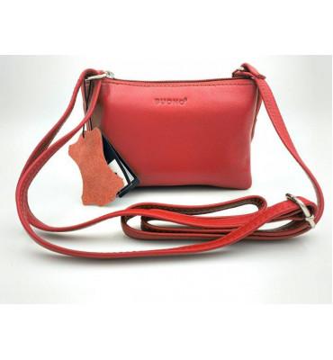 Женская кожаная сумка cross-body Buono Leather (08-10982), цвет красный