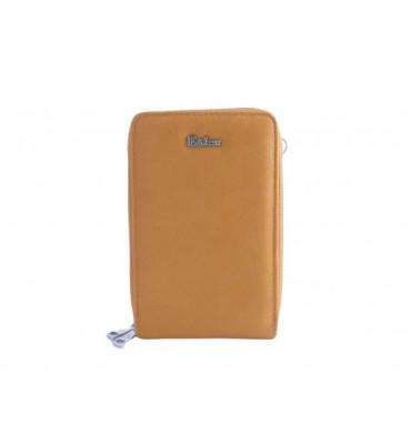 Клатч женский эко-кожа Eslee F6566-10 18х11х6 желтый