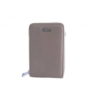 Клатч женский эко-кожа Eslee F6566-13 18х11х6 бежевый