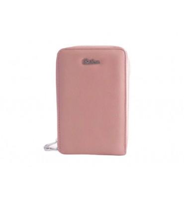 Клатч женский эко-кожа Eslee F6566-4 18х11х6 пудровый