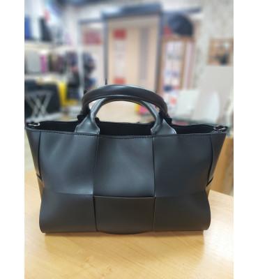 Женская сумка из качественной экокожи, 35-21-11 см, цвет черный