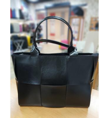 Женская сумка из качественной экокожи, 38-27-12 см, цвет лиловый
