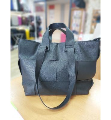 Женская сумка из качественной экокожи, 37-30-14 см, цвет молочный