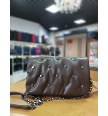 Женская сумка из качественной экокожи, цвет черный, 28-16-8 см