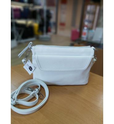 Женская кожаная сумка TM Borse in Pelle (Италия) / размер 24-17-5см / цвет пудра