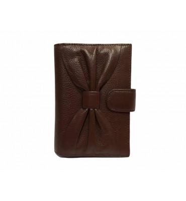 Обложка для паспорта натуральная кожа F.Salfeite 12198 14х10х1 черная коричневый