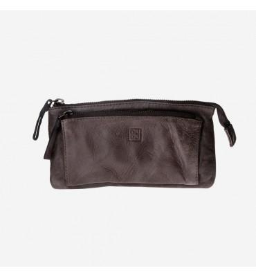 Женский кожаный кошелек DUDUBAGS Timeless (Италия) / размер 20x10,5x2 см / цвет серый