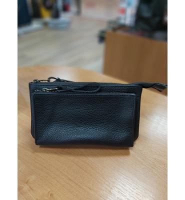 Мужской клатч-кошелек из натуральной кожи ТМ ArtMar (Украина), 11-20-3,5, цвет черный